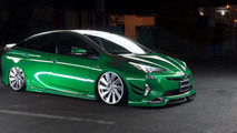 Toyota Prius transformed into frugal lowrider