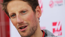 Romain Grosjean, Haas F1 Team VF-16 with the media