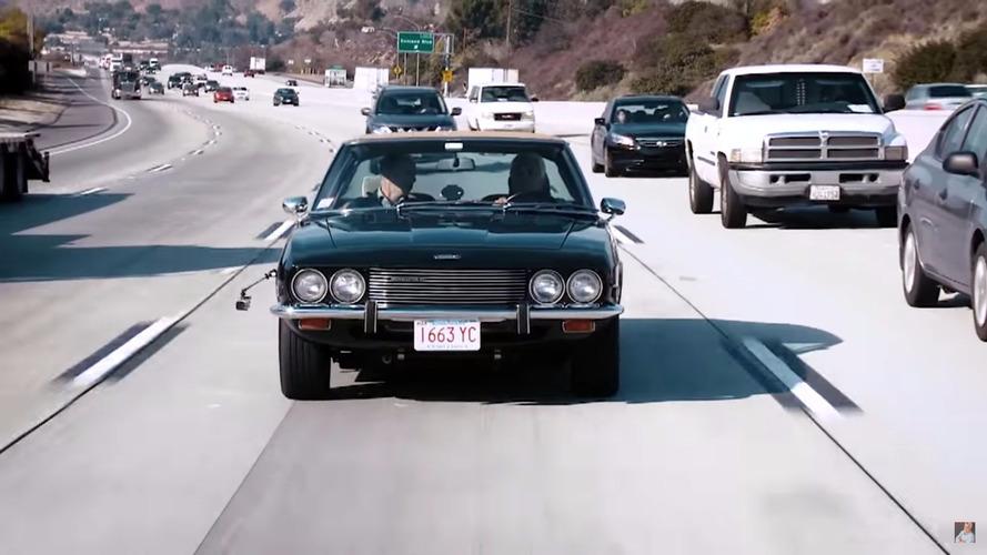 Jay Leno takes the gorgeous Jensen Interceptor for a spin