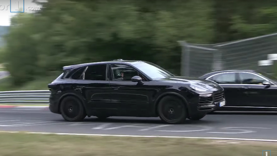 Check out a camouflaged next-gen Porsche Cayenne at the Nurburgring