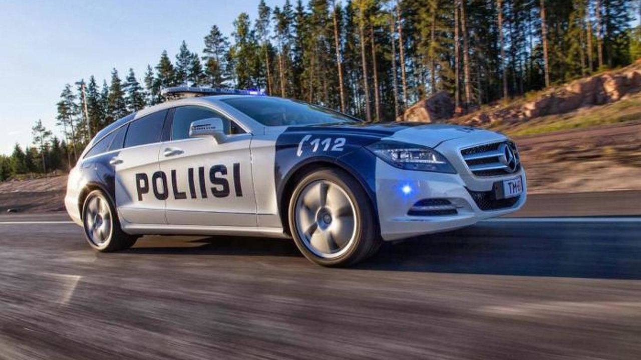 Mercedes-Benz CLS Shooting Brake 350 CDI 4MATIC part of Finnish Police 27.09.2013