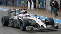 Jenson Button with McLaren MP4-29  Formula One Testing Jerez Spain