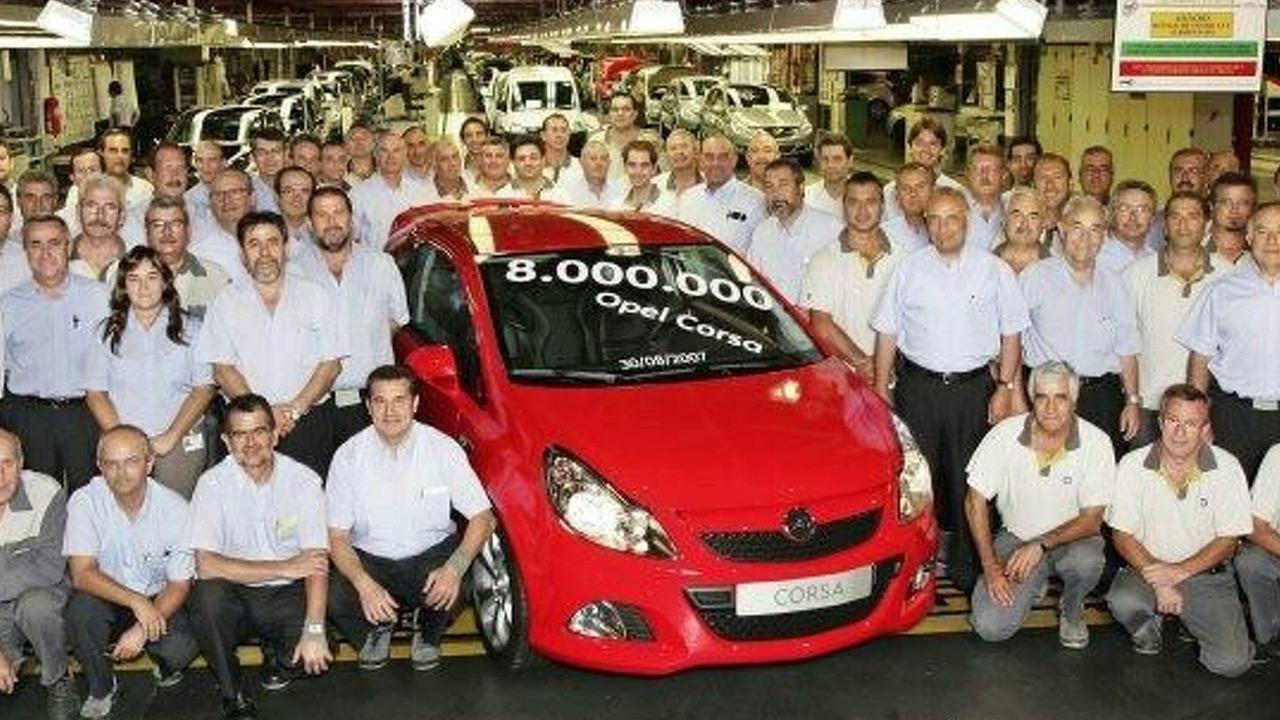 Opel Corsa at Figueruelas, Spain plant
