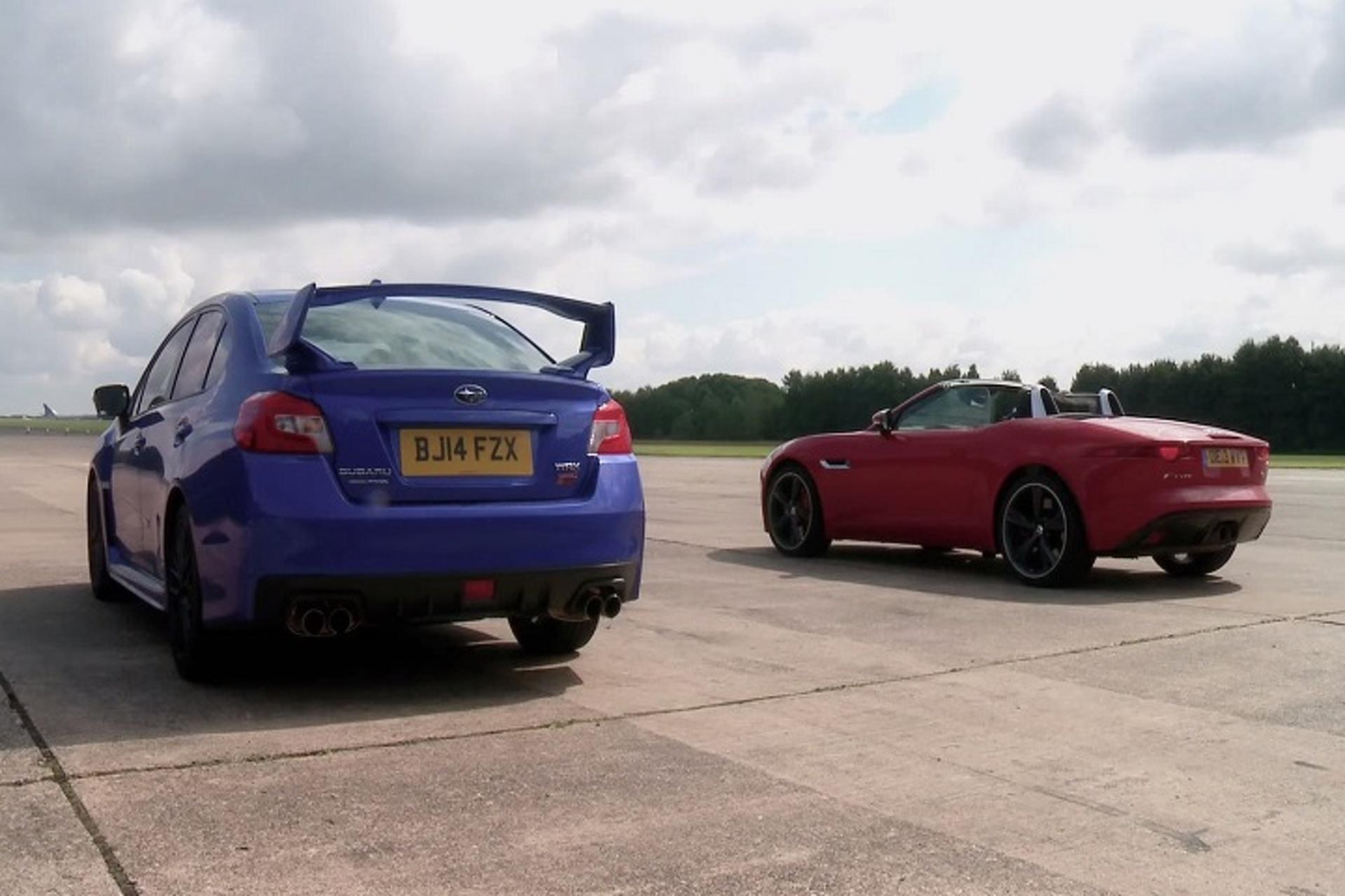 Jaguar F-Type vs Subaru WRX STI Drag Race: Does AWD Trump Power? [w/Video]