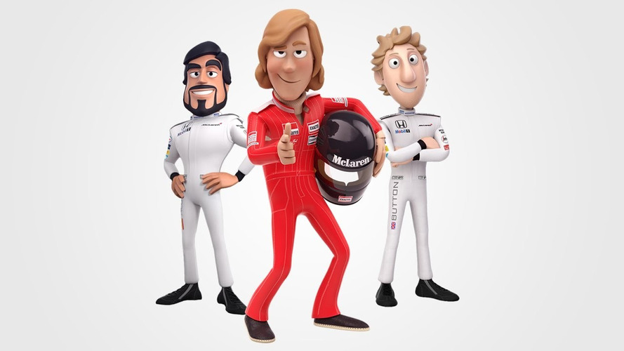 McLaren's drivers get 'tooned' to mark 40 years since James Hunt's F1 title