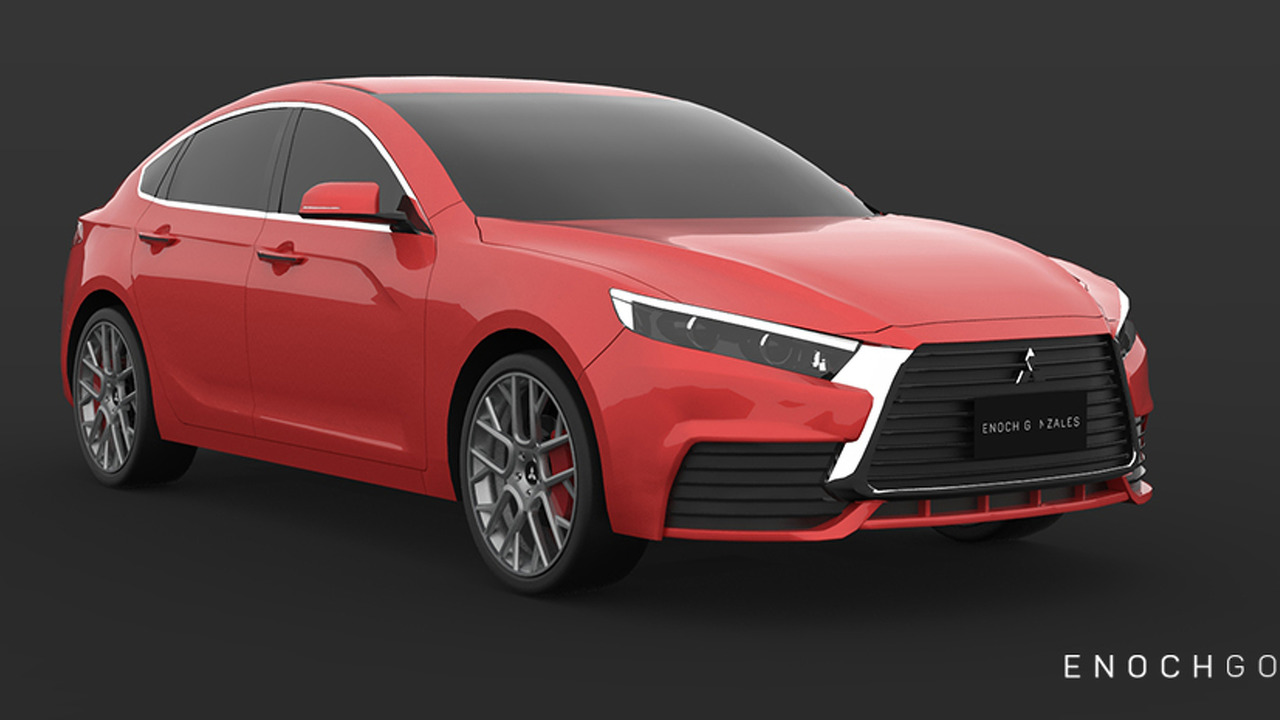 2018 Mitsubishi Lancer rendering photo | Motor1.com
