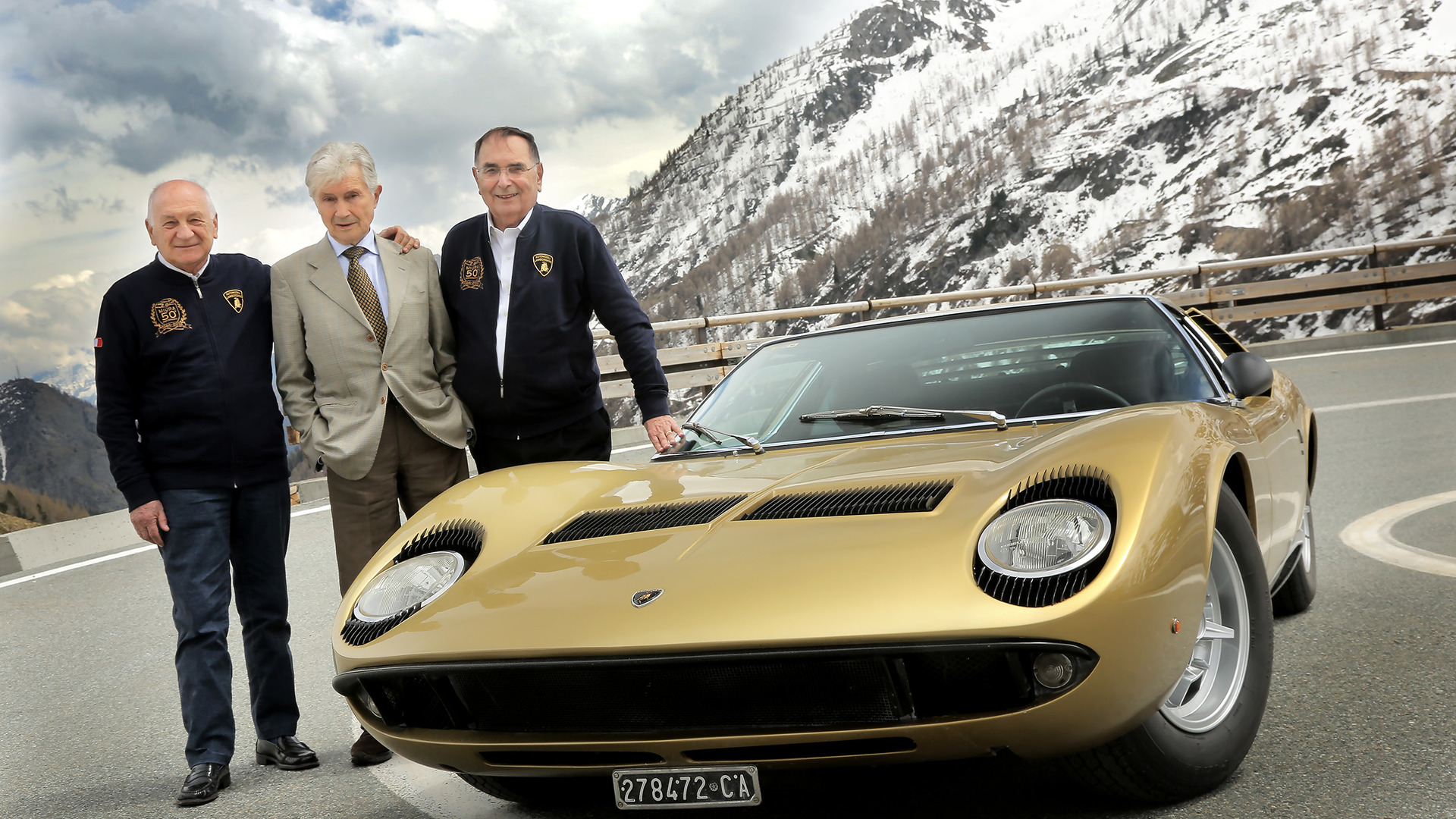 Lamborghini Miura's 50th anniversary celebrated