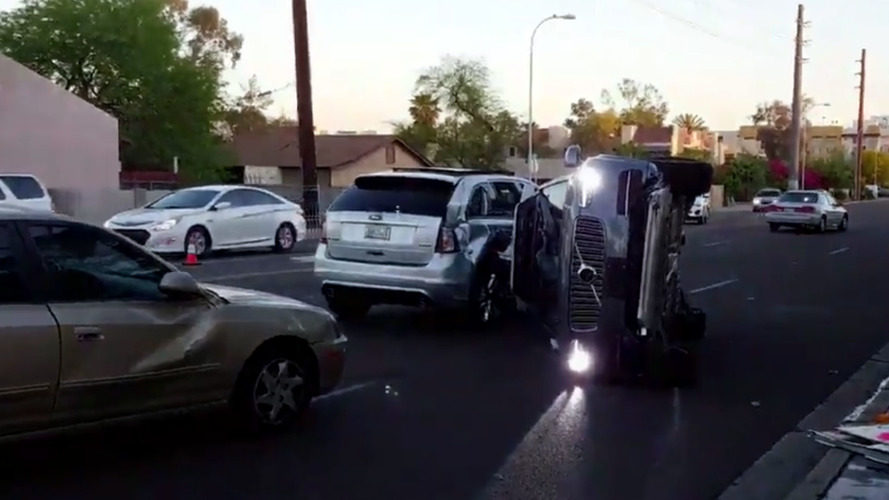 Self-Driving Car Crash Comes Amid Debate About Regulations