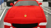 Lauren Porter's woolen Ferrari