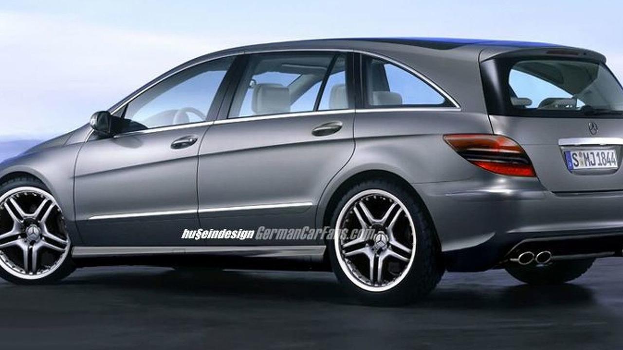 Mercedes benz r 55 amg spy photos for Mercedes benz r