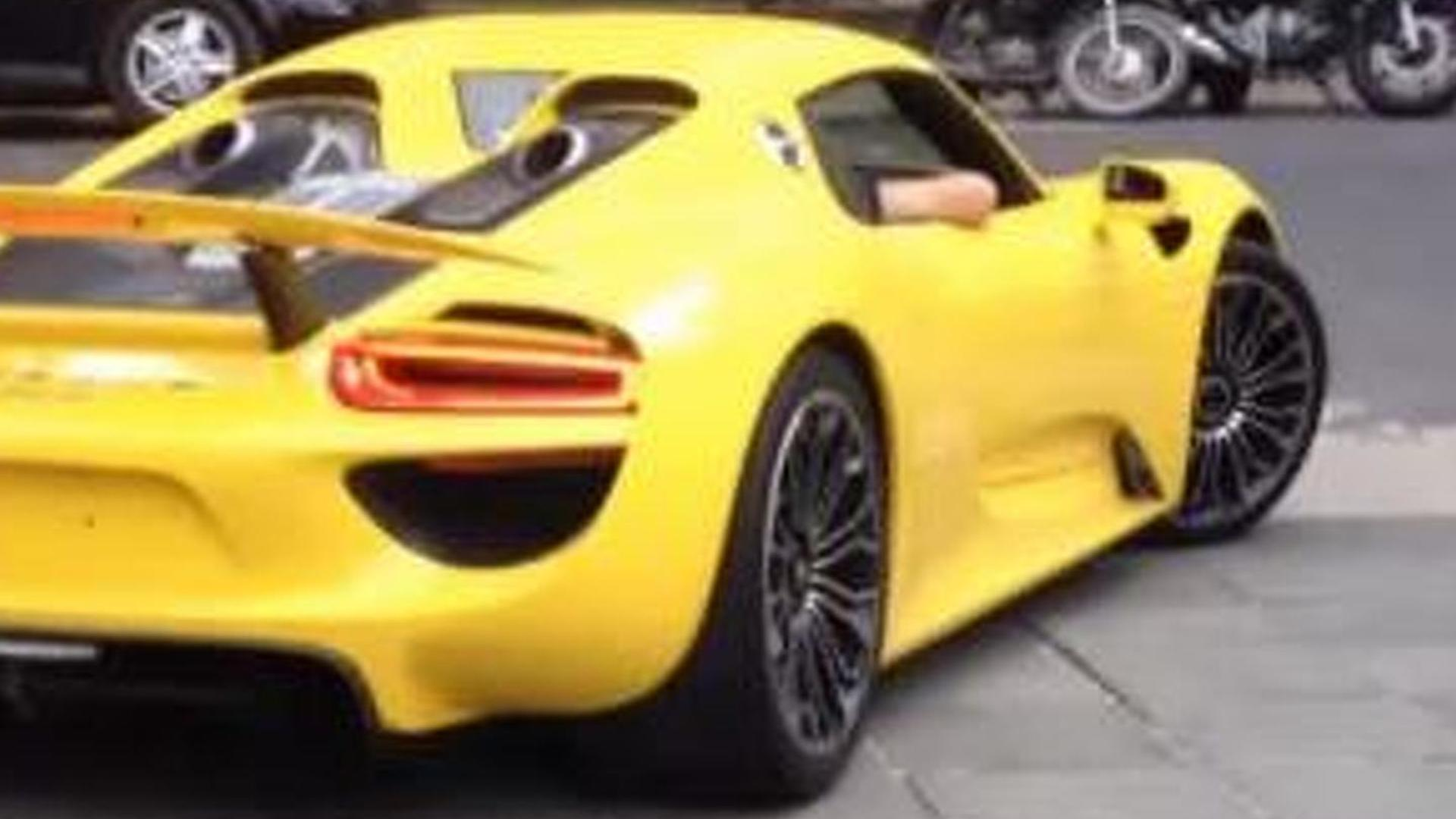 Porsche 918 Spyder with Racing Yellow paint spotted in Brazil [video]