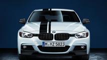 BMW 3 Series with BMW M Performance Parts carbon fiber splitters 17.02.2012