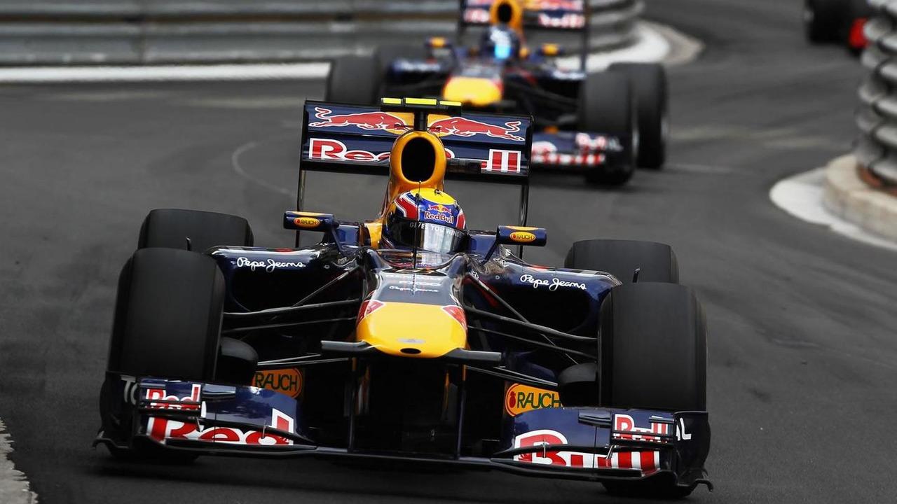 Mark Webber leads Sebastian Vettel in another dominant Red Bull performance at the 2010 Monaco Grand Prix