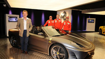 Ferrari 16m F430 Scuderia spider with Massa Räikkönen and Montezemolo