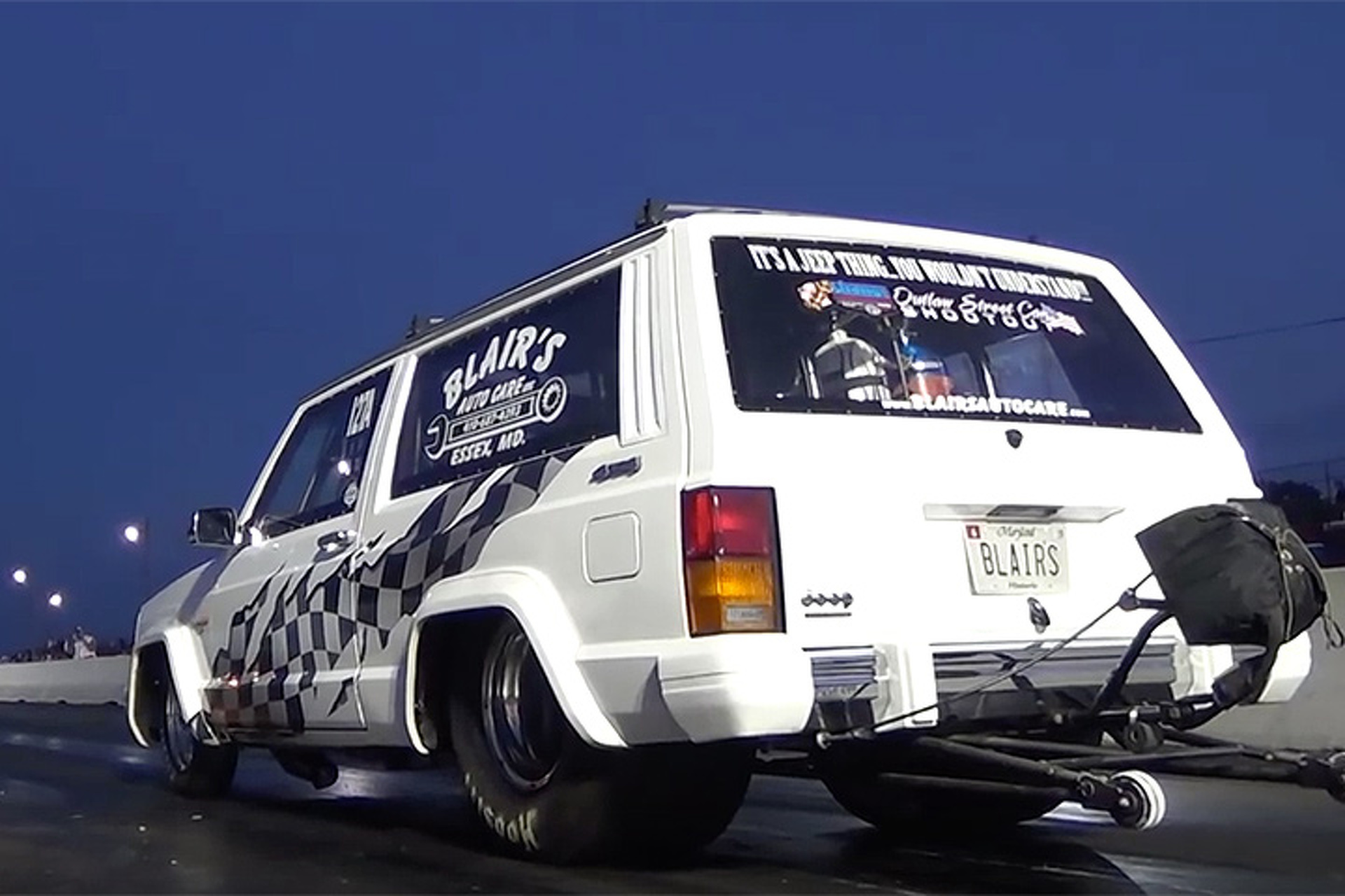 Watch World's Fastest Jeep Cherokee Crash During a Drag Race