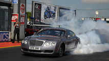 Bentley Continental GT modified for drag racing