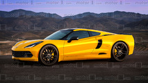 Chevy Corvette C8 mid-engine render