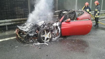 Ferrari FF bursts into flames in Poland