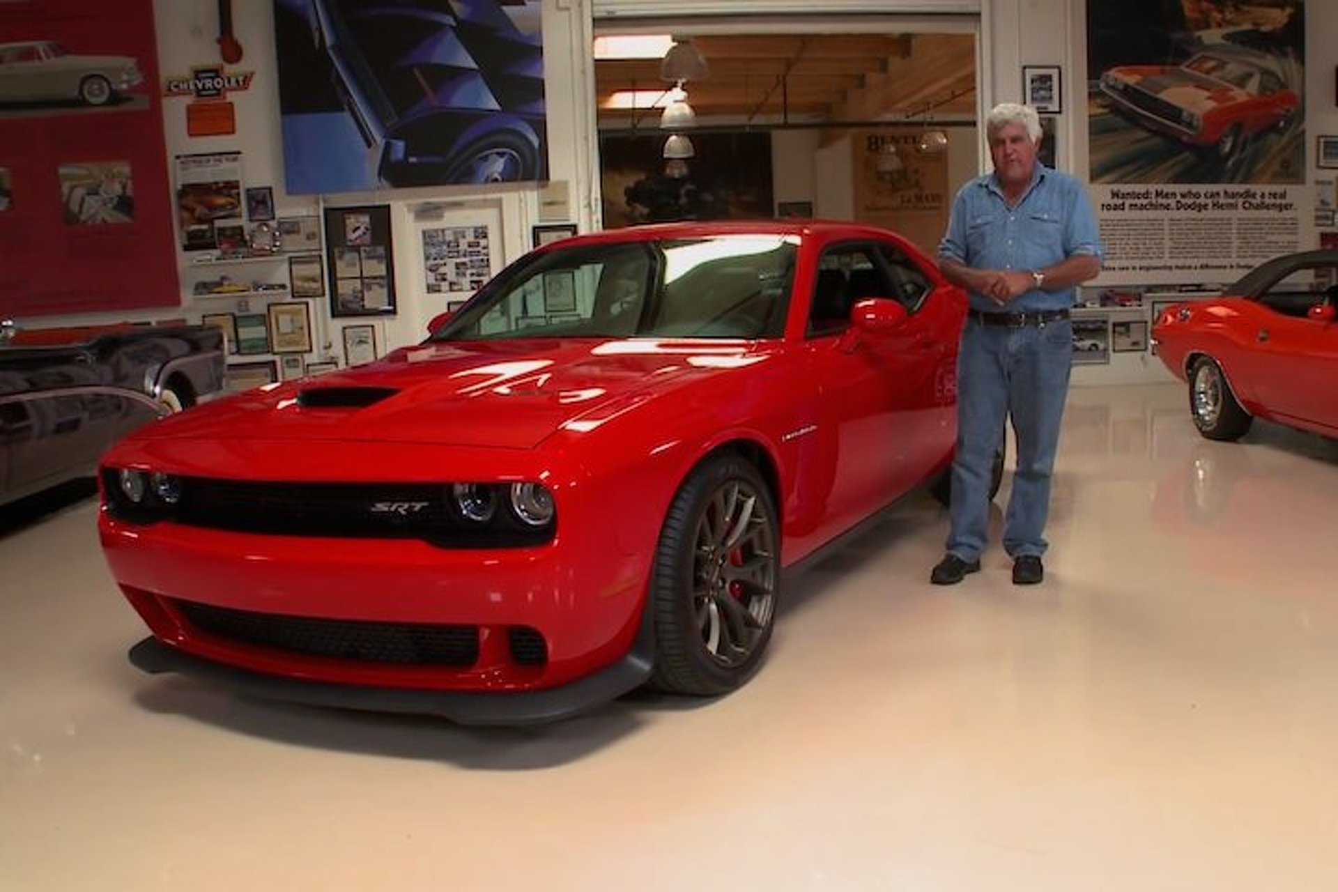 Jay Leno Drives the Hellcat Challenger and Does Lots of Burnouts [Video]
