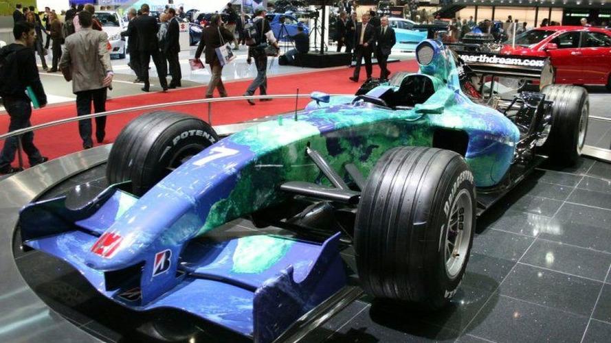 Geneva Motor Show: Honda's Environmental F1 Car Concept in the Flesh