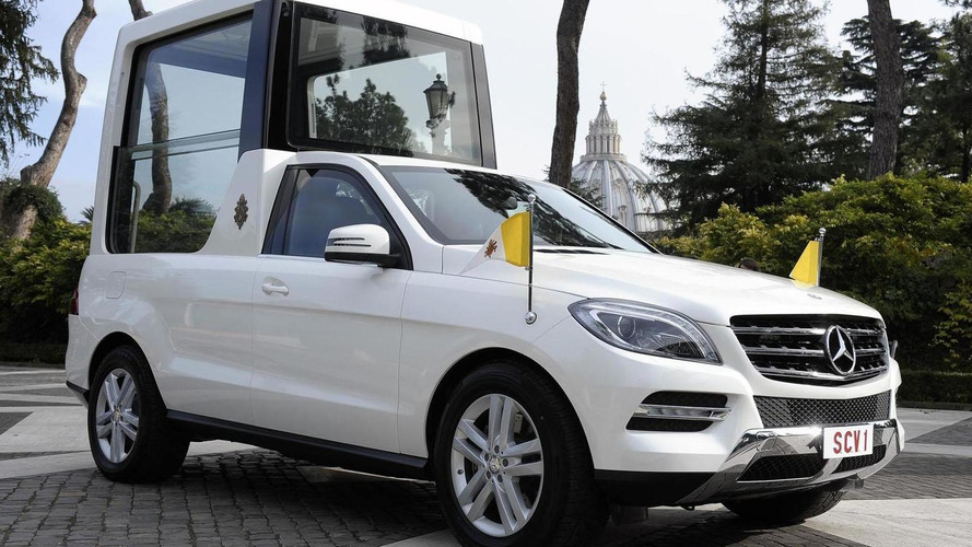 2012 Mercedes M-Class Popemobile unveiled at the Vatican