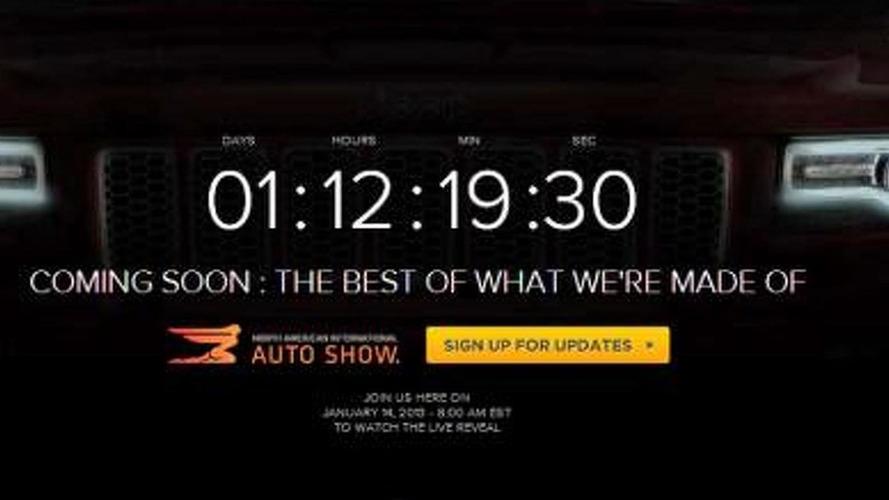 2014 Jeep Grand Cherokee facelift teased for Detroit