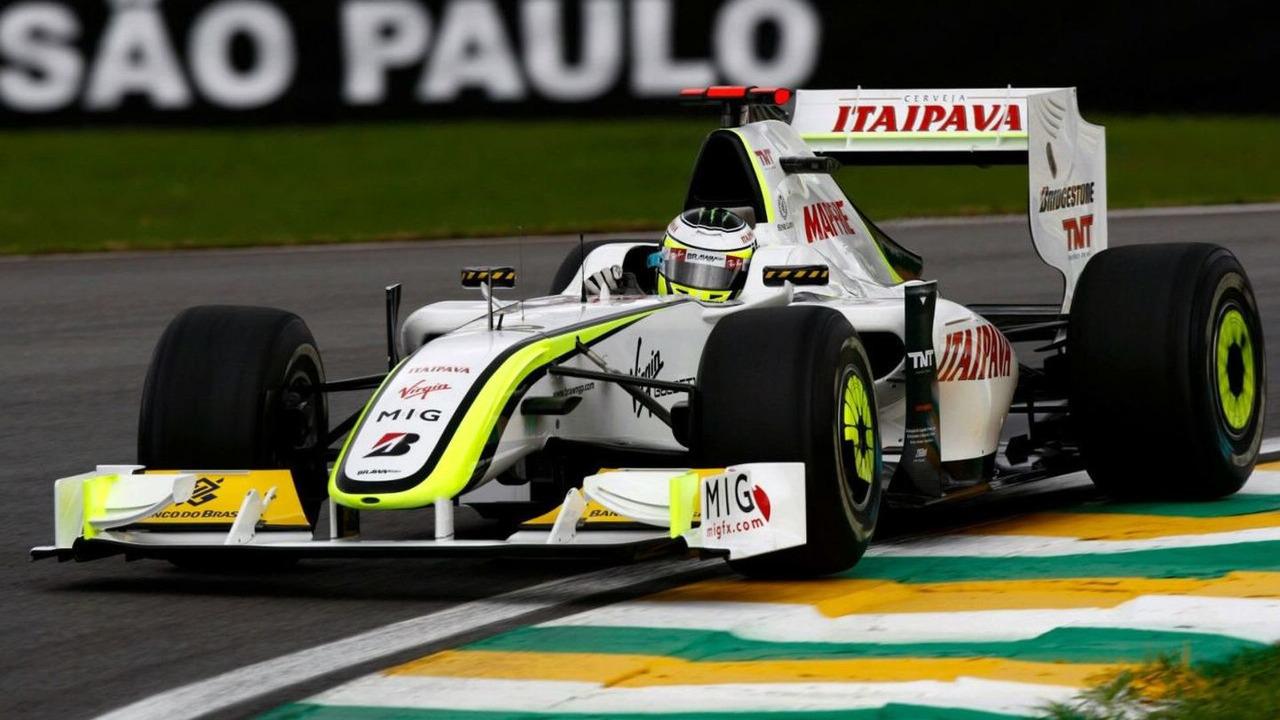 Jenson Button (GBR), Brawn GP, Brazilian Grand Prix, Friday Practice, Sao Paulo, Brazil, 16.10.2009