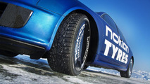 Nokian tires Audi RS6 beats Bentley ice speed world record [video]