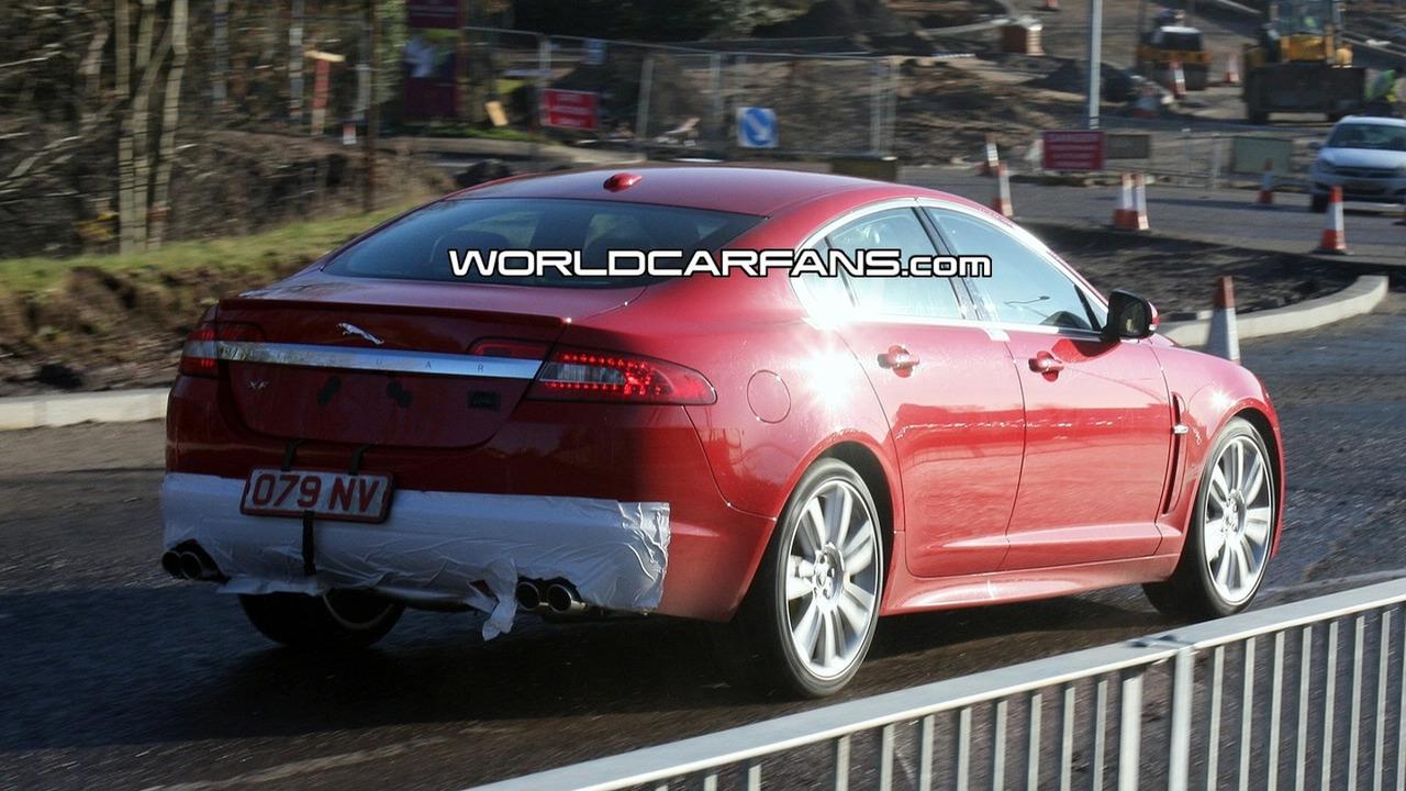Jaguar XFR Spy Photo