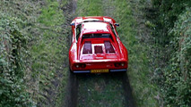 Ferrari 288 GTO Group-B Spec punished in the country [video]