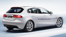 Jaguar XD rendered as a BMW 1-Series rival