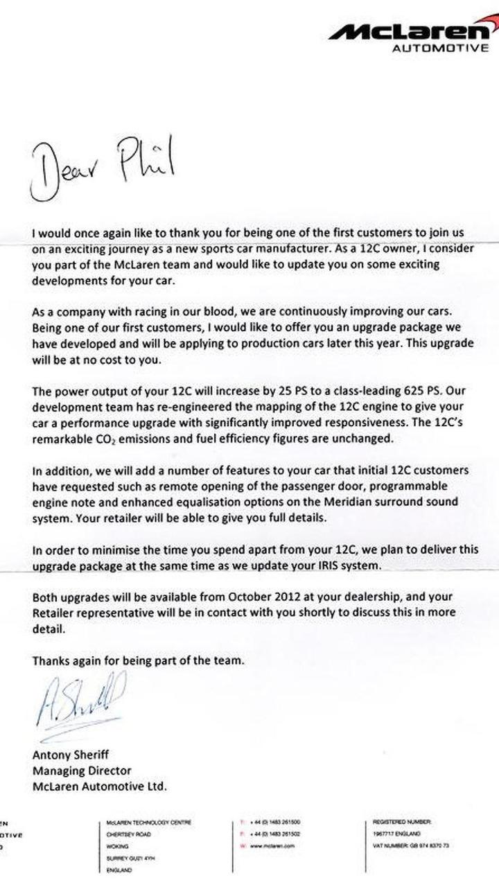 McLaren letter, 600, 04.06.2012