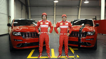 Jeep unveils Ferrari-themed Grand Cherokee SRT8 for Alonso & Massa