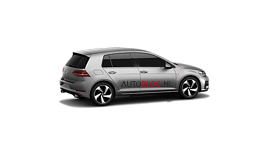 VW Golf 7 GTI facelift leaked photos