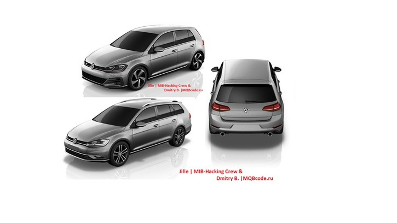 2017 VW Golf and 2018 VW CC renders