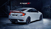 2016 Honda Civic Coupe beautifully rendered in Si specification