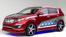 Kia Sportage Wonder Woman lands at New York Auto Show