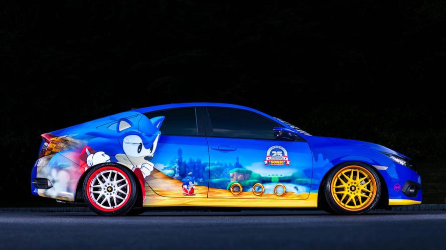 Photos – Découvrez la Civic aux couleurs de Sonic du SEMA Show