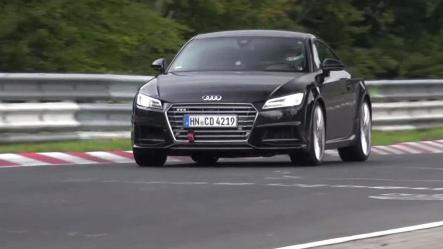 2017 Audi TT RS mule caught on the Ring testing hard [video]