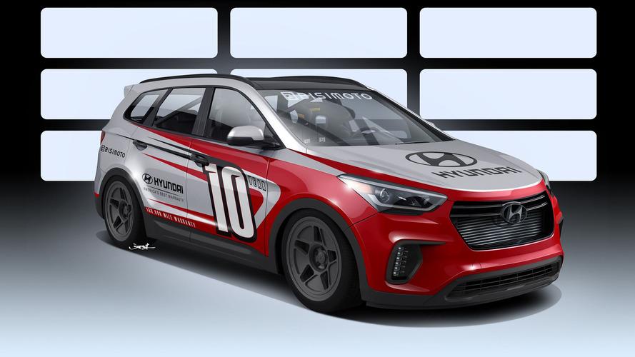 Behold the 1,040-hp, rear-wheel-drive Hyundai Santa Fe