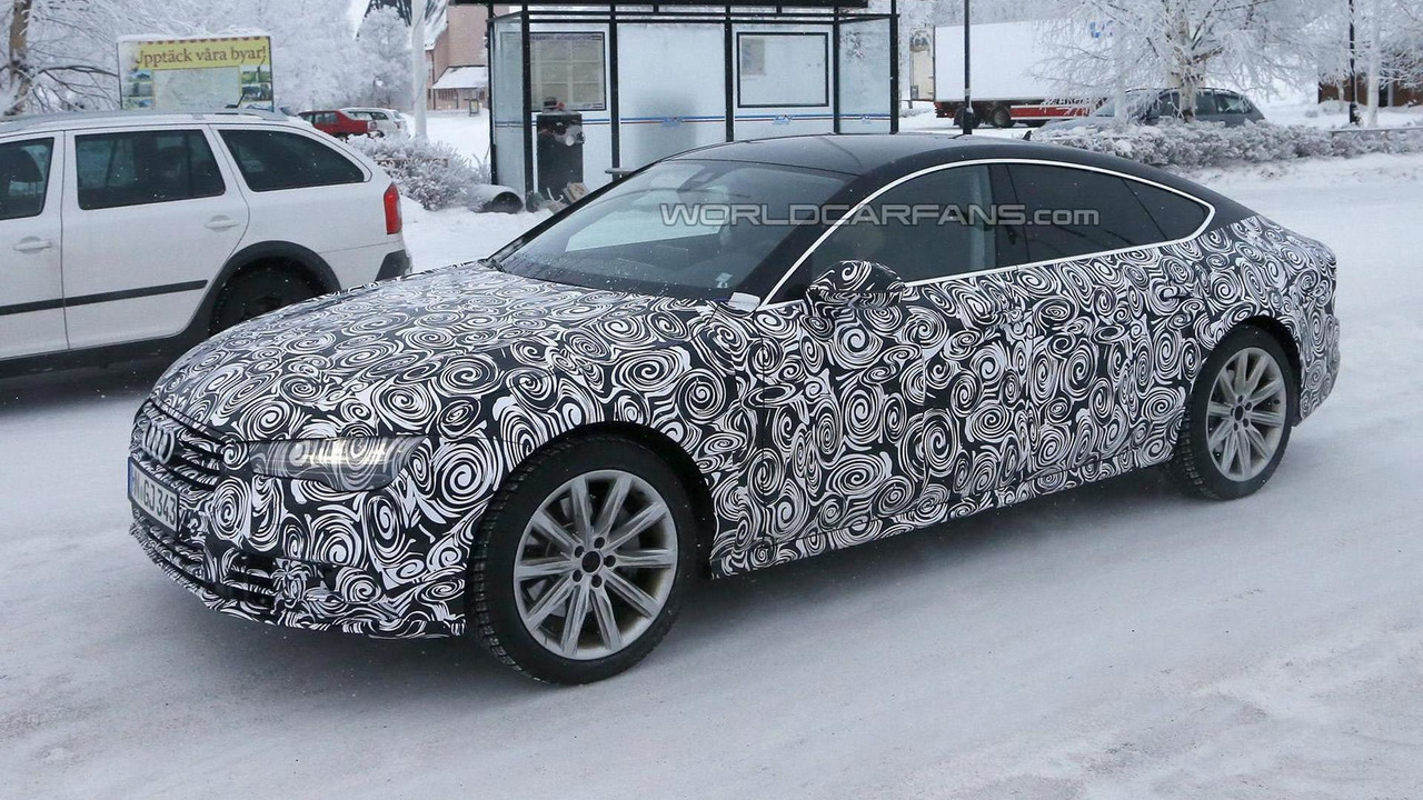 Audi A7 facelift spy photo
