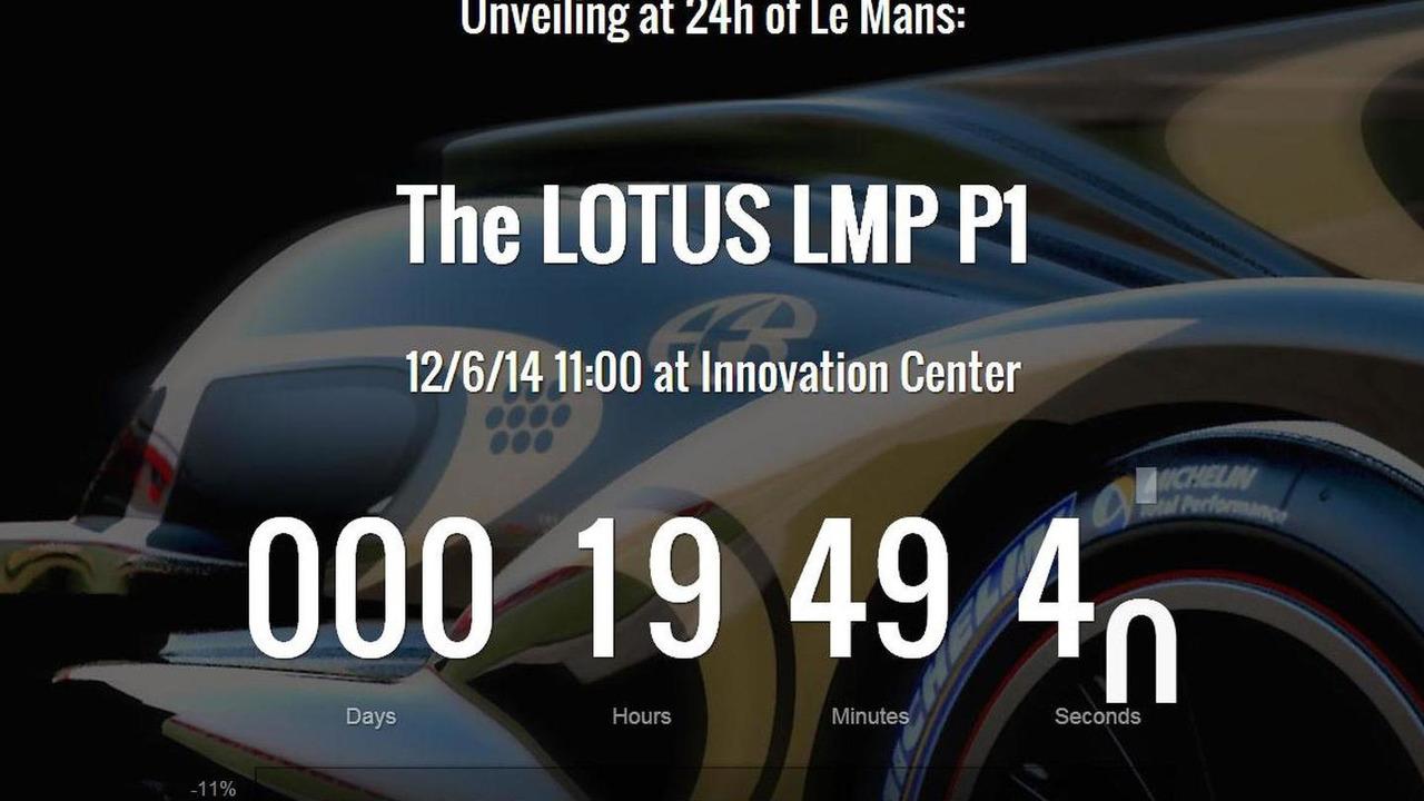 Lotus LMP P1 teaser image