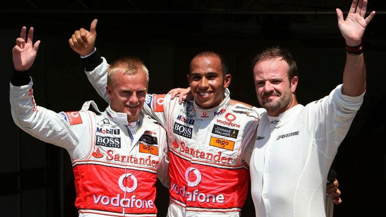 Lewis Hamilton, Heikki Kovalainen & Rubens Barrichello take 1-2-3 in Qualifying for the 2009 European Grand Prix