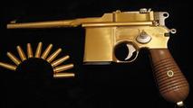 Dartz authentic copy of Bolshevik Mauser gun made from natural gold, 1600, 05.05.2010
