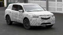 2014 Acura MDX spied wearing less camouflage
