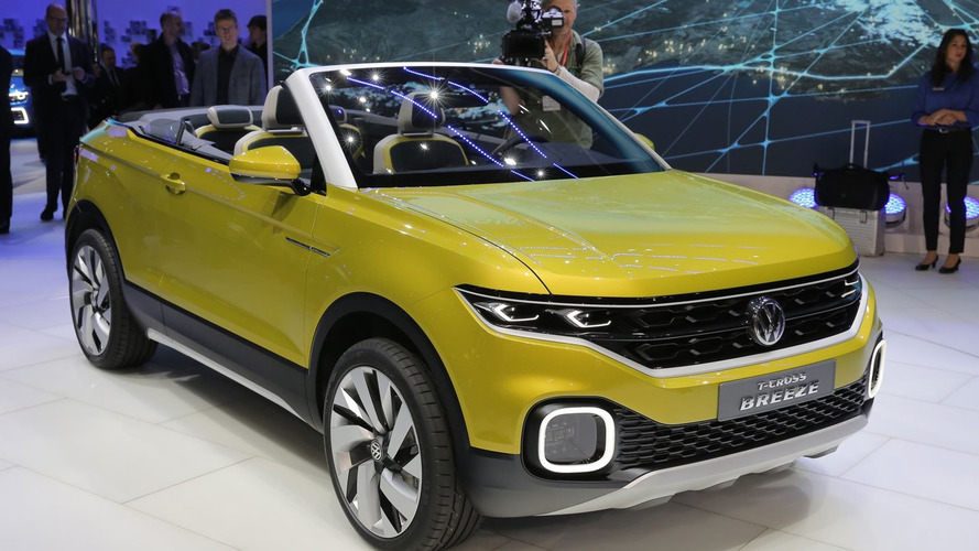 VW T-Cross Breeze concept previews small crossover cabrio