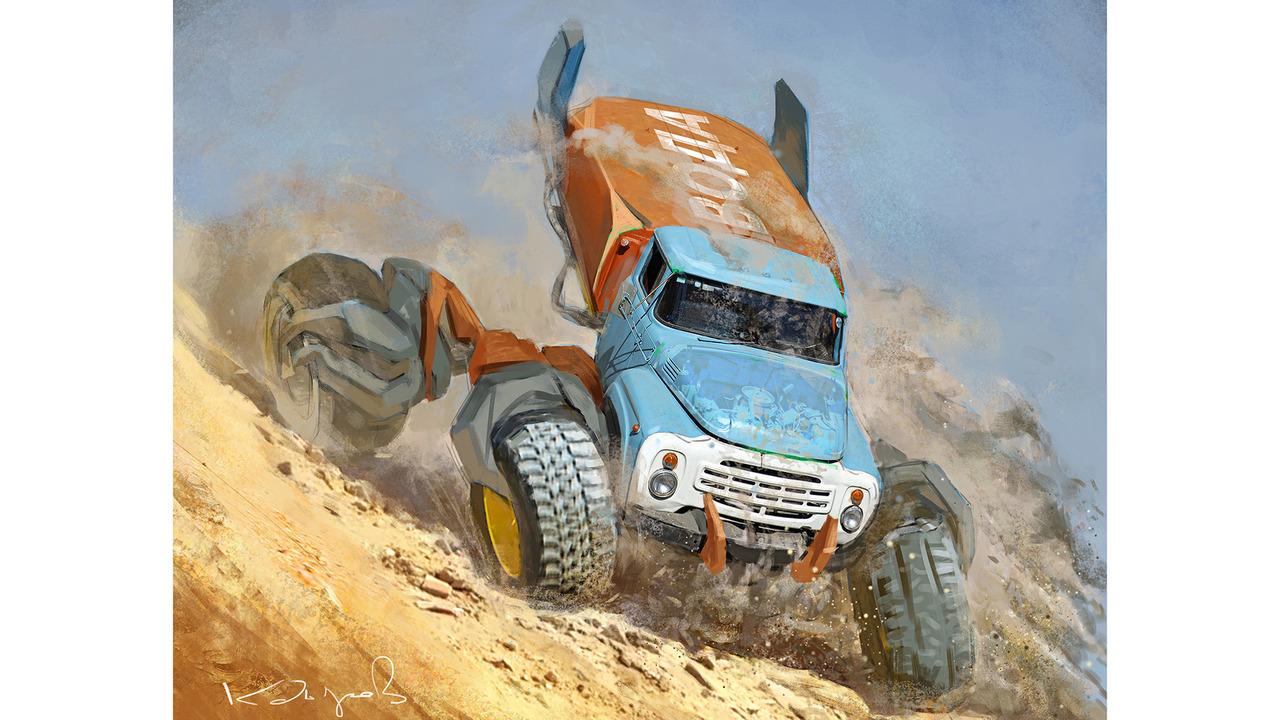 ZiL-130 Russian Monster Robot Car