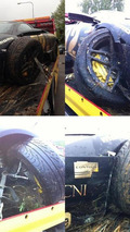 Lamborghini Murcielago LP670-4 SV crash during Gumball 3000 20.5.2013