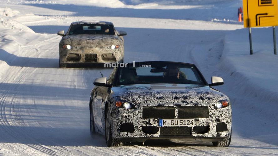 Photos espions - La BMW Z5 à ciel ouvert en Suède, en compagnie de la Supra