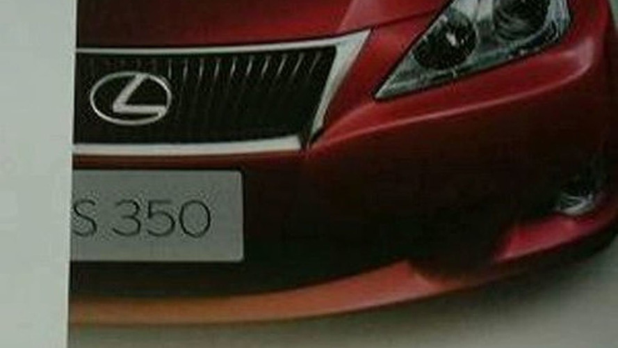 Lexus IS Facelift Brochure Scans Leaked?